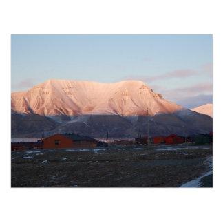 Arctic glow of Longyearbyen Postcard