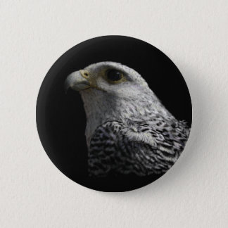 Arctic Gyrfalcon Button