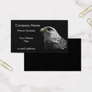 Arctic Gyrfalcon Pastels on Black Business Card