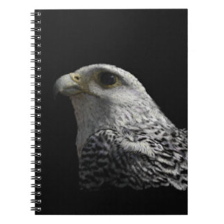 Arctic Gyrfalcon Portrait Painting Notebook