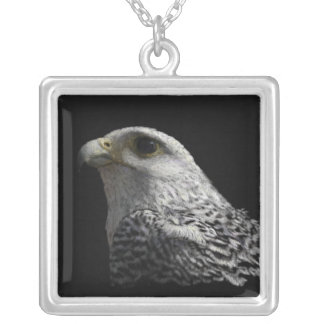 Arctic Gyrfalcon Silver Plated Necklace