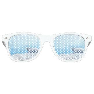 Arctic hare, lepus arcticus, or polar rabbit retro sunglasses