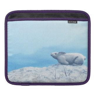 Arctic hare, lepus arcticus, or polar rabbit sleeve for iPads