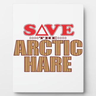 Arctic Hare Save Plaque