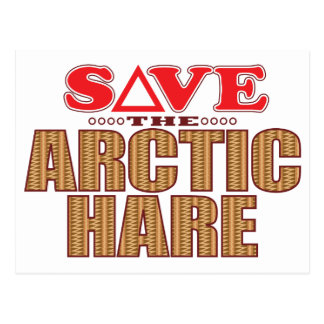 Arctic Hare Save Postcard