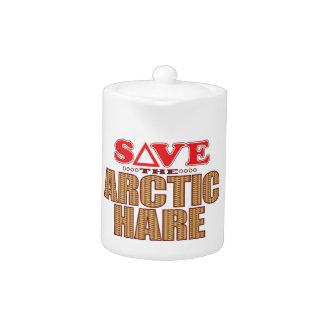 Arctic Hare Save Teapot