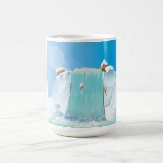 Arctic Ice Waterfall Coffee Mug
