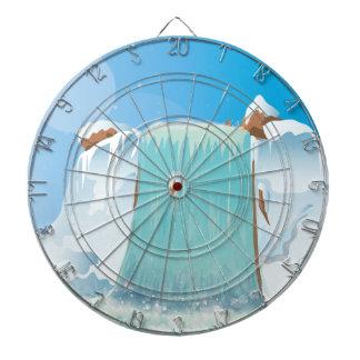 Arctic Ice Waterfall Dart Boards