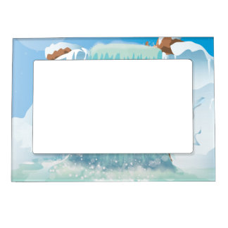 Arctic Ice Waterfall Magnetic Frame