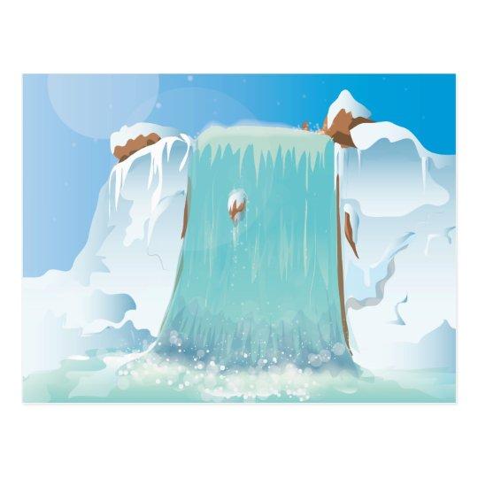 Arctic Ice Waterfall Postcard