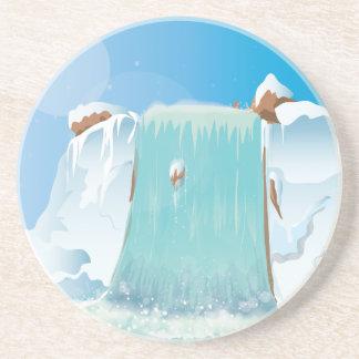 Arctic Ice Waterfall Sandstone Coaster