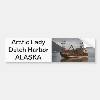 Arctic Lady, Crab Boat in Dutch Harbor, AK Bumper Stickers