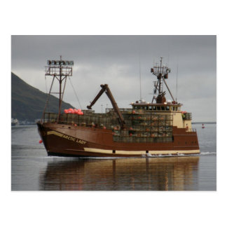 Arctic Lady Crab Boat in Dutch Harbor AK Post Card