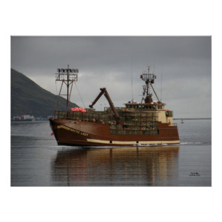 Arctic Lady, Crab Boat in Dutch Harbor, AK Poster