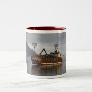 Arctic Lady, Crab Boat in Dutch Harbor, AK Two-Tone Coffee Mug