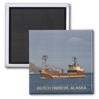 Arctic Lady, Crab Boat in Dutch Harbor, Alaska 2 Inch Square Magnet