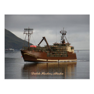 Arctic Lady, Crab Boat in Dutch Harbor, Alaska Postcard