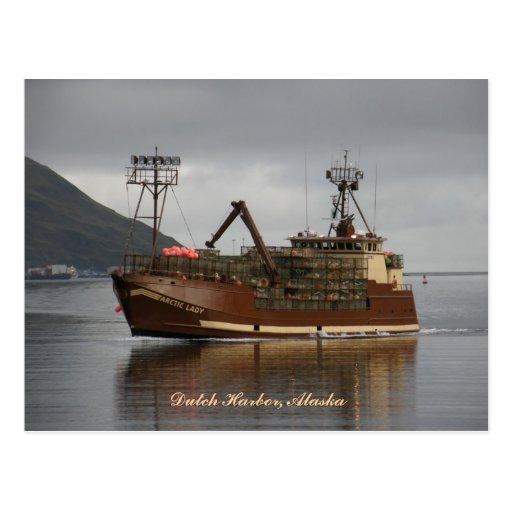 Arctic Lady, Crab Boat in Dutch Harbor, Alaska Post Cards