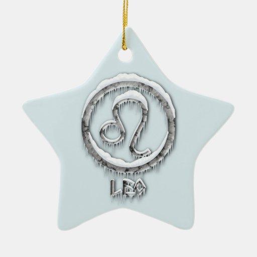 Arctic Leo Ceramic Ornament