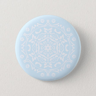 Arctic Mandala Pinback Button