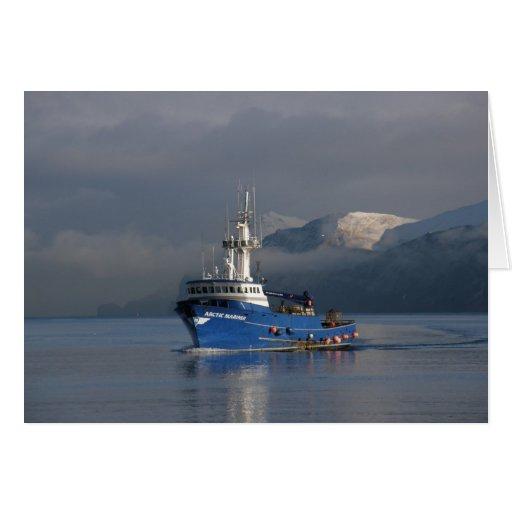 Arctic Mariner, Crab Boat in Dutch Harbor, AK Greeting Card