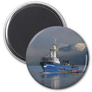 Arctic Mariner, Crab Boat in Dutch Harbor, AK 2 Inch Round Magnet
