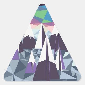 Arctic Mountains.jpg Triangle Sticker
