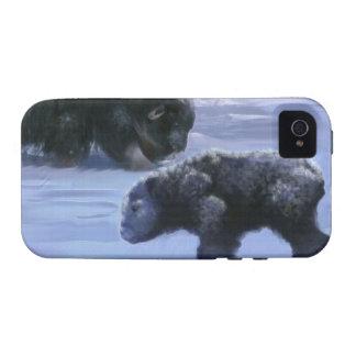 Arctic Musk Ox Mother & Calf Wildlife Art iPhone 4 Cover