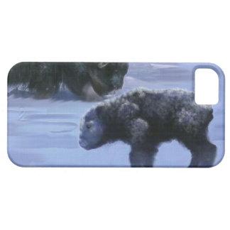 Arctic Musk Ox Mother & Calf Wildlife Art iPhone 5 Cover