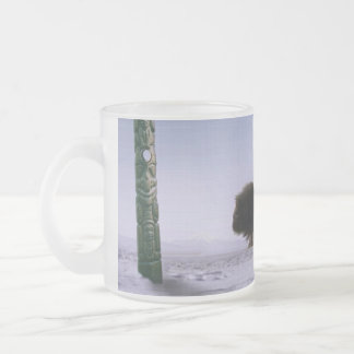 Arctic Musk Oxen Sacred Bovines Wildlife Art Frosted Glass Coffee Mug