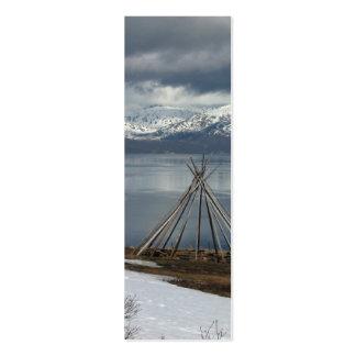 Arctic Nomades Tipi Bookmark Mini Business Card
