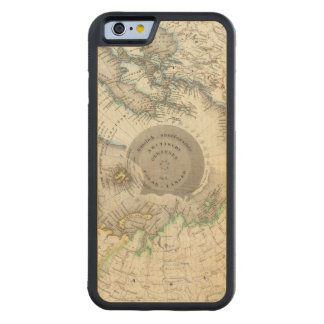 Arctic, Northern Hemisphere Carved Maple iPhone 6 Bumper Case