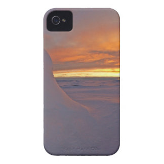 Arctic ocean sunset winter time scene Case-Mate iPhone 4 case