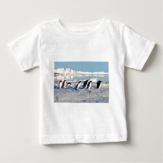 Arctic Penguins Running into the Sea Baby T-Shirt