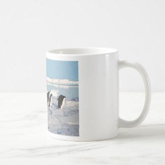 Arctic Penguins Running into the Sea Classic White Coffee Mug