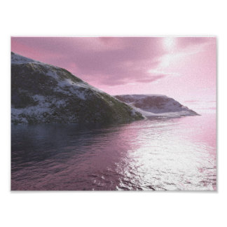 Arctic Pink Sunrise Canvas Print by Tamara Ward