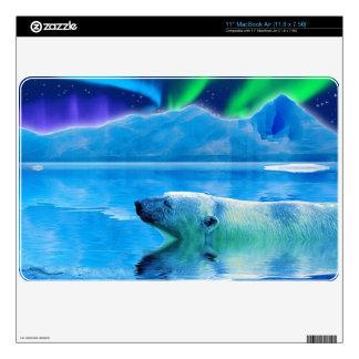 Arctic POLAR BEAR & Aurora Device Skin Decals For MacBook Air