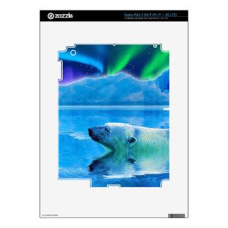 Arctic POLAR BEAR & Aurora Device Skin iPad 3 Skins