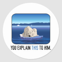 Arctic Polar Bear Classic Round Sticker