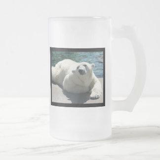 Arctic Polar Bear Frosted Beer Mug
