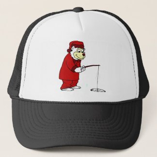 Arctic Polar Bear Ice Fishing in PJs Trucker Hat