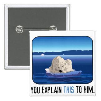 Arctic Polar Bear Pinback Buttons