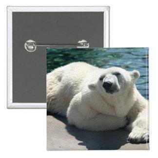 Arctic Polar Bear Square Pin