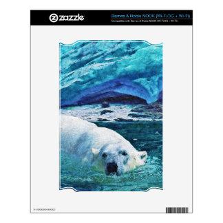 Arctic POLAR BEAR Wildlife Device Decal Skin Decal For NOOK