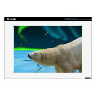 """Arctic POLAR BEAR Wildlife Device Decal Skin 15"""" Laptop Skin"""