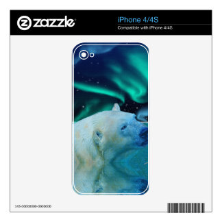 Arctic POLAR BEAR Wildlife Device Decal Skin Decals For The iPhone 4