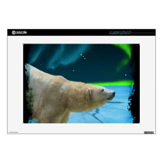 "Arctic POLAR BEAR Wildlife Device Decal Skin Skins For 15"" Laptops"