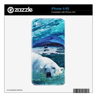 Arctic POLAR BEAR Wildlife Device Decal Skin Skins For iPhone 4
