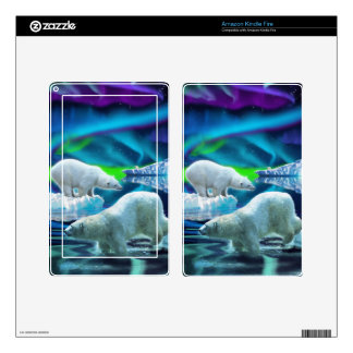 Arctic POLAR BEAR Wildlife Device Decal Skin Skins For Kindle Fire