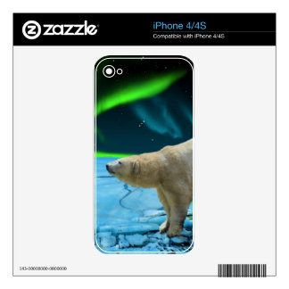 Arctic POLAR BEAR Wildlife Device Decal Skin Skins For The iPhone 4